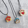 Click here for more information about Tiny House Pendant Necklace - Random
