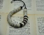 Click here for more information about Hedva Klein Necklace from only Book Paper and Wooden Beads 2